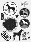 Set of logo horse meat, horseflesh, labels and badges. Vector Royalty Free Stock Photo