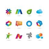 Set logo i ikony Zdjęcie Royalty Free