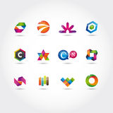 Set of logo and icons Royalty Free Stock Images