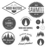 Set of logo, labels, badges and logotype elements Stock Photos