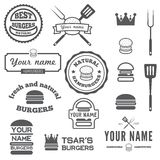 Set of logo, labels, stickers and logotype Royalty Free Stock Photo