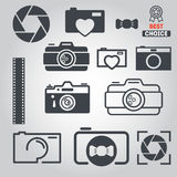 Set of logo and logotype elements for photoraph Stock Photo