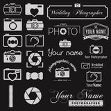 Set of logo and logotype elements for photoraph, web site and applications. Set of logo and logotype elements for photoraph Stock Image