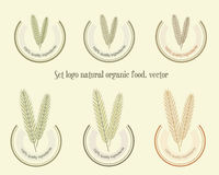 Set logo natural organic food, vector Royalty Free Stock Photography