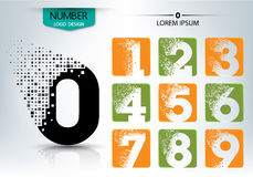 Set of logo number  design Stock Photo