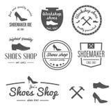 Set logo, odznaka, emblemat lub logotyp rocznika, ilustracji