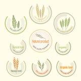 Set logo for organically grown food, vector Stock Image