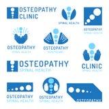 Set logo osteopathy Stock Image