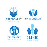 Set logo osteopathy Royalty Free Stock Photography