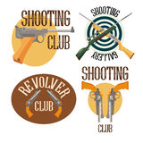 Set of logo shooting club stock illustration