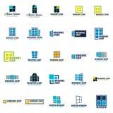 Set of Logo Windows store. Installer company. Vector illustration. Royalty Free Stock Image
