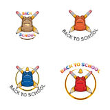 Set Logo z powrotem szkoła Fotografia Royalty Free