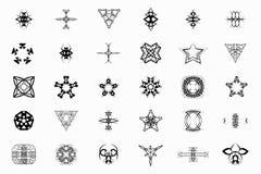 Set 30 logo, znaki, symbol, tatuaż Obraz Royalty Free