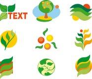 Set of logos. Environmental set of logos (design elements Stock Photography
