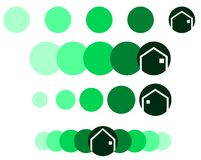 Set of Logos for architects or real estate agents Royalty Free Stock Photo
