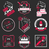 Set of  logos and badges music Stock Photography