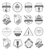 Set of  logos and badges music Stock Image