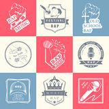 Set logos and Badges Rap Music Royalty Free Stock Image