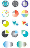 Set of logos on the basis of a circle Royalty Free Stock Images