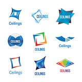 Logos of ceilings, floors Royalty Free Stock Photo