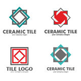 Set of logos of ceramic tiles. Vector illustration Stock Images