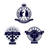 A set of logos with chess symbols Royalty Free Stock Photography