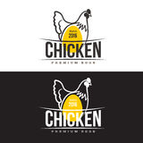 Set of logos with chicken Stock Photo