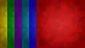 Colorful triangles background. 6 colors included Stock Photography