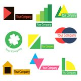 A set of logos for the company Royalty Free Stock Image