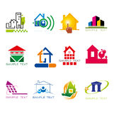 Set of logos construction and houses  Stock Image