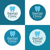 Set of logos for dental clinic Royalty Free Stock Image