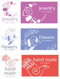 Set of 3 logos Royalty Free Stock Photo