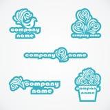 Set of logos Royalty Free Stock Photos