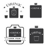 Set of logos for drinking Royalty Free Stock Photography