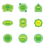 Set of logos for eco farms Royalty Free Stock Images