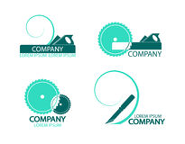 A set of logos, emblems of joiner's tools. Royalty Free Stock Photography