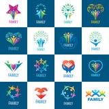 Set logos family Stock Photos