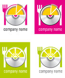 A set of logos Stock Image