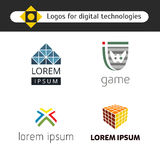 Set of logos for games Royalty Free Stock Images