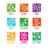 Set of logos, icons, labels, stickers or stamps Royalty Free Stock Image