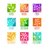 Set of logos, icons, labels, stickers or stamps Stock Photos