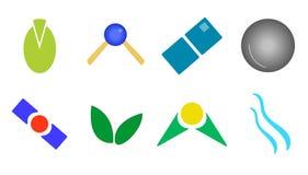 Set of logos and icons. Set 8 icons royalty free illustration
