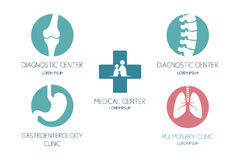 Set of logos on a medical theme Stock Photo