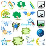 Set of logos nature vector ill Stock Image