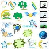 Set of logos nature vector ill Stock Image