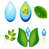 A set of logos of nature. Stock Photo