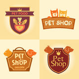 Set of  logos for pet shop, hotel. Stock Photos