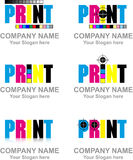 Logo print Royalty Free Stock Photography