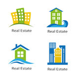 Set of logos of real estate Royalty Free Stock Photography