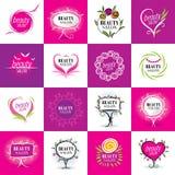 Set of logos salons Royalty Free Stock Image